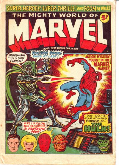 Mighty World of Marvel #15, Jim Starlin cover
