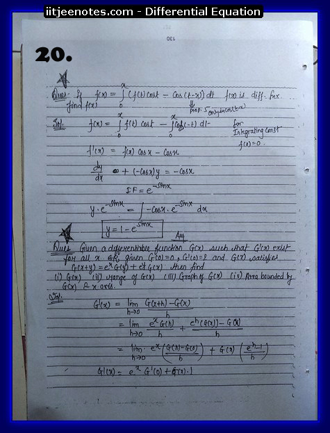 differential equation notes7