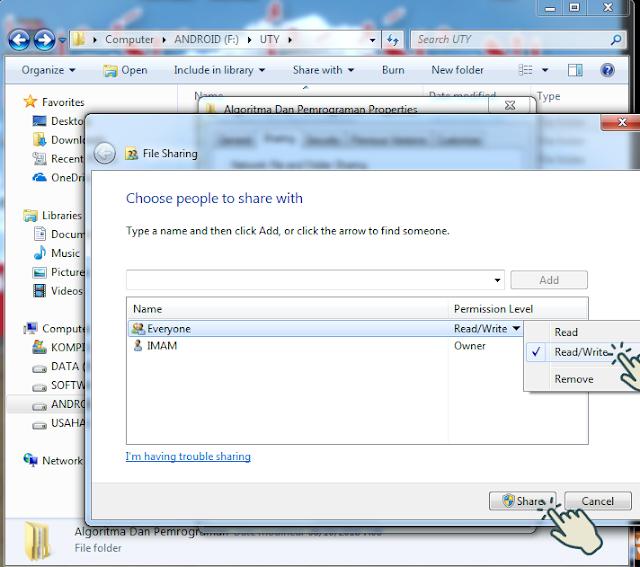 Sharing file atau folder 5