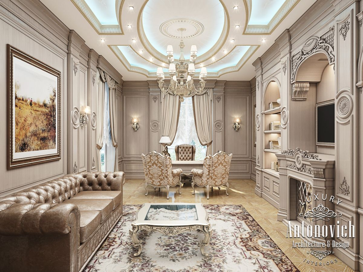 Klassiek Kantoor Luxury Antonovich Design Uae октября 2015