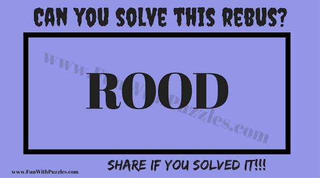 English word rebus riddle