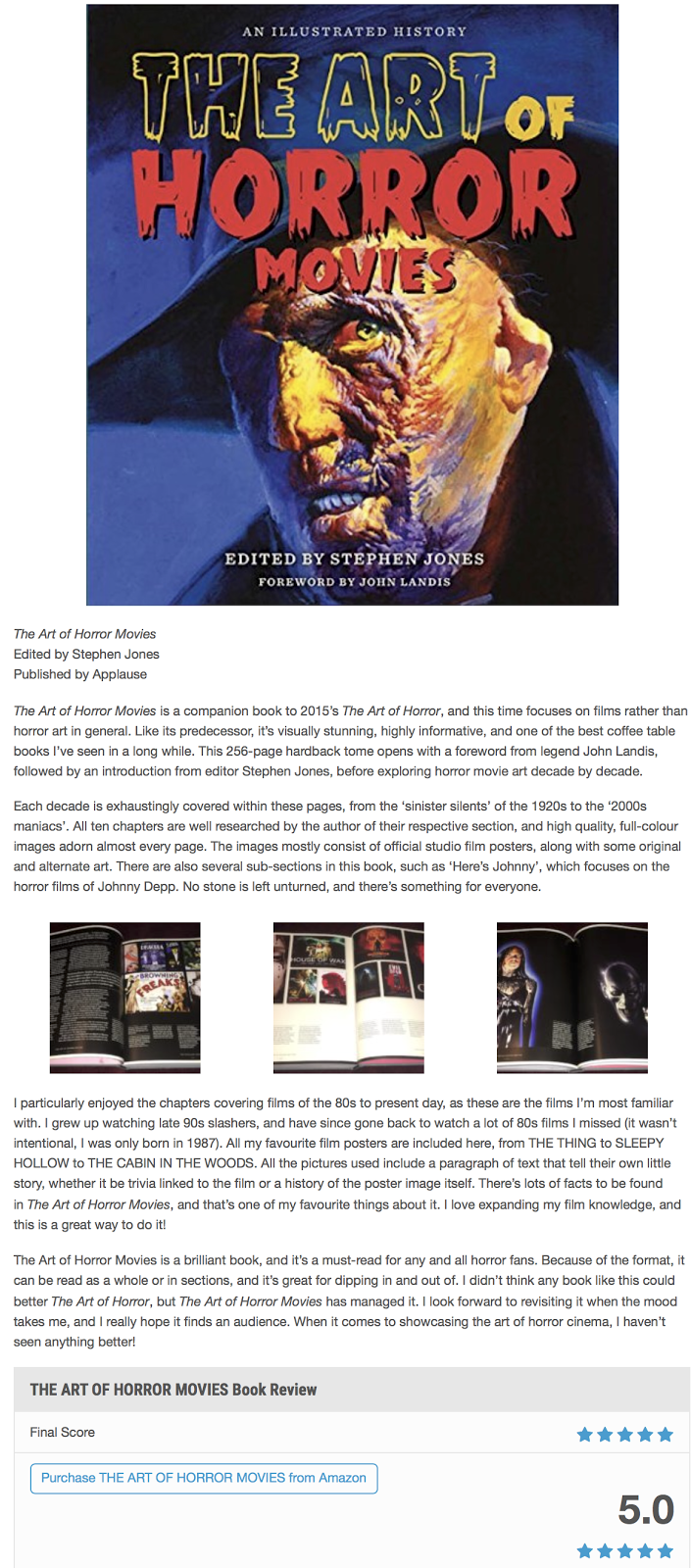 the art of horror films Free shipping details the art of horror: an illustrated history by stephen jones hardcover $3066 in stock ships from and sold by amazoncom editorial reviews review a comprehensive journey through the history of horror films --los angeles times the art of horror movies: an illustrated.