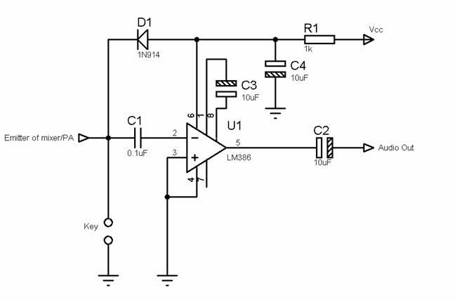 LA3ZA Radio & Electronics: Using pin 7 of the LM386 to