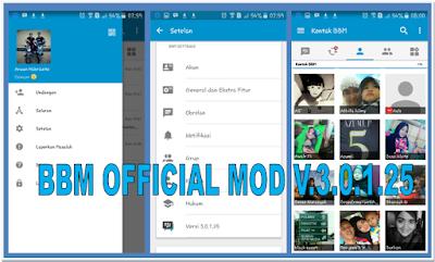 UBDATE BBM OFFICIAL MOD BASED V.3.0.1.25 APK