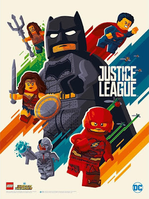 San Diego Comic-Con 2017 Exclusive Justice League LEGO Movie Poster by Tom Whalen