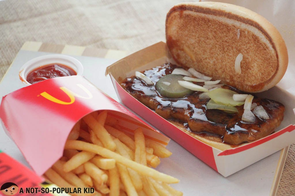 McRib is perfect with the world-famous French fries of McDonald's