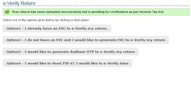 Electronic Verification of Return