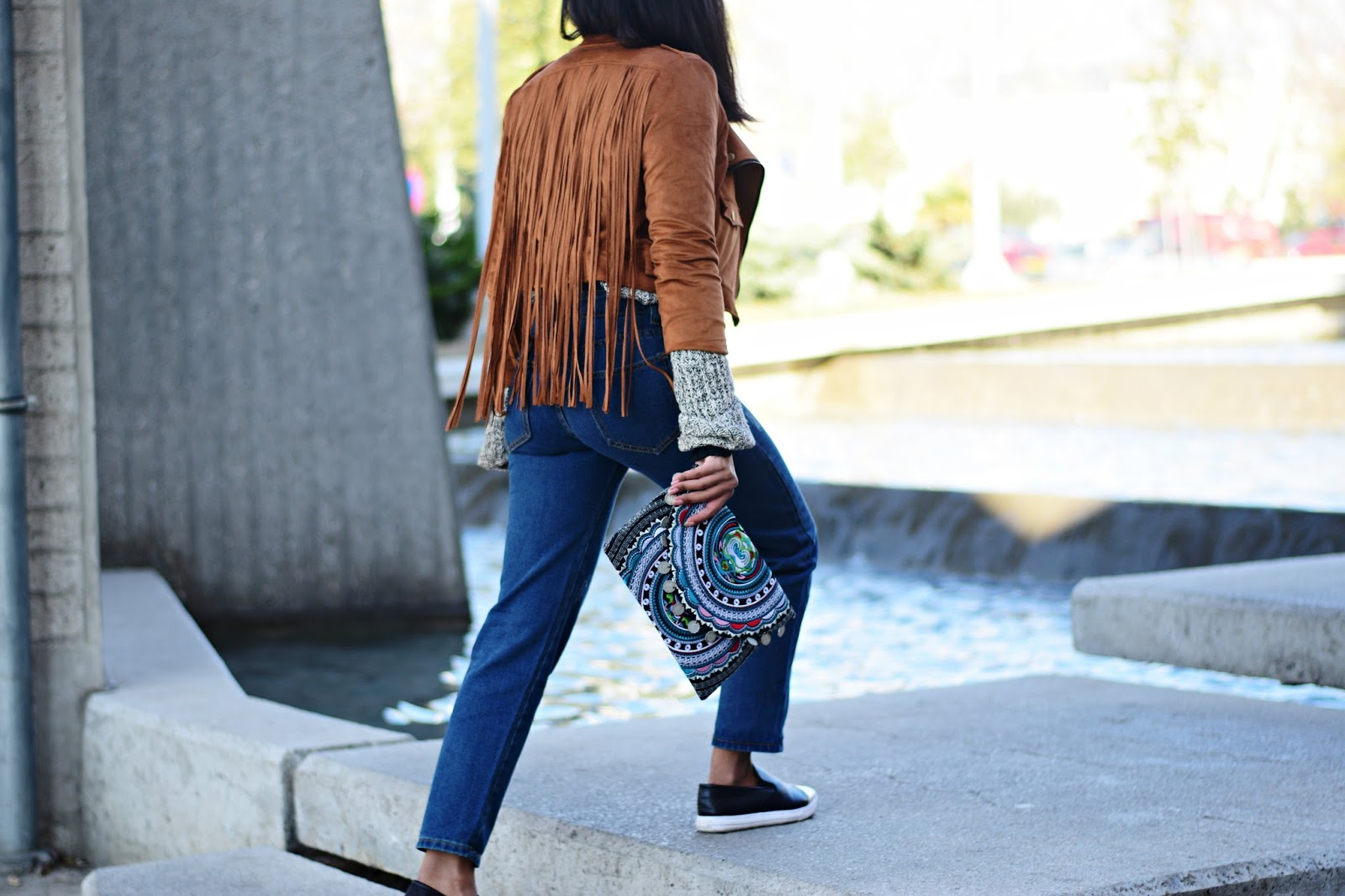k-meets-style  how to style a fringe jacket