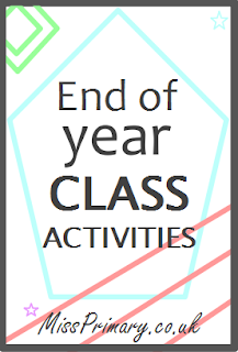 Fun end of year activities for primary school class