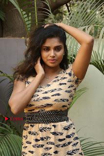 Telugu Actress Karunya Chowdary Stills in Short Dress at ATM Not Working Press Meet  0053.jpg