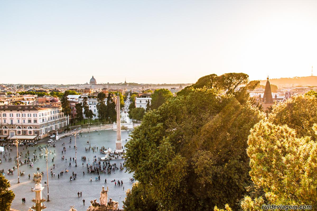 Roma Terrazza del Pincio  Atrs do Pr do Sol  Rui de