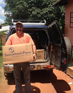 Operation Christmas Child shoeboxes arrive for distribution in Zambia.