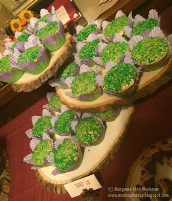 Woodland Creature Baby Shower food coconut grass cupcakes