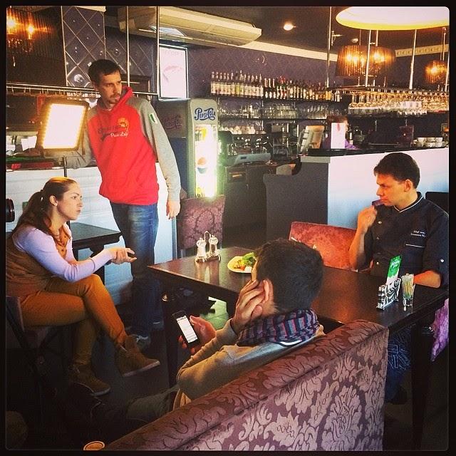 """""""Рыба. Клевое место"""" или Как мы с Аней в кино снимались, Андрей Лапшинов, кафе Шоколад"""
