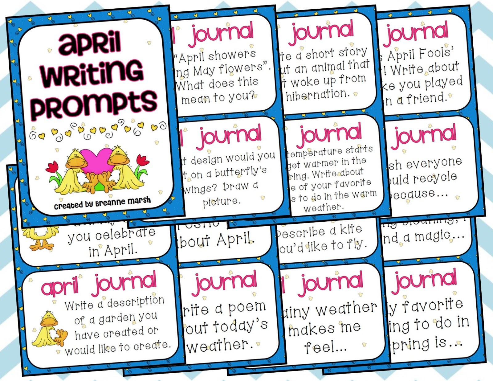 Ms Third Grade April Creative Writing Prompts Freebie
