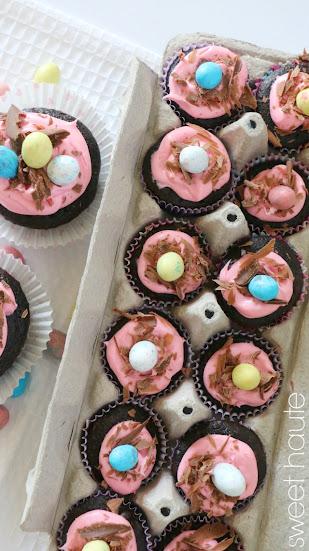 http://sweethaute.blogspot.com/2015/04/spring-bird-nest-cupcakes.html