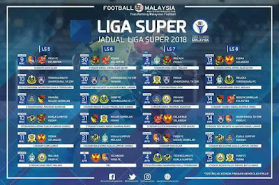 Jadual Perlawanan JDT Liga Super 2018