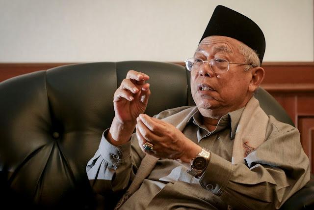 Ma'ruf Amin: Khilafah Tidak Ditolak di Indonesia, tapi...