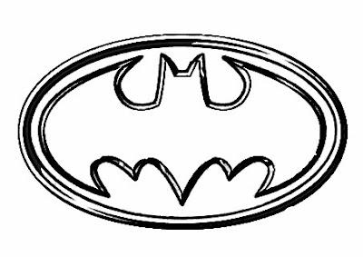 transmissionpress: Kids Coloring Batman Logo Super Hero