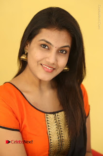 Telugu Actress Chandana Stills in Salwar Kameez at Karam Dosa Movie Press Meet  0051.JPG