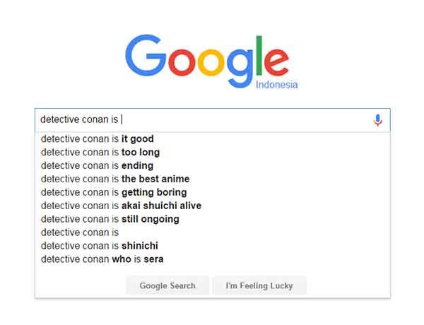 Detective conan - Score/nilai dari google