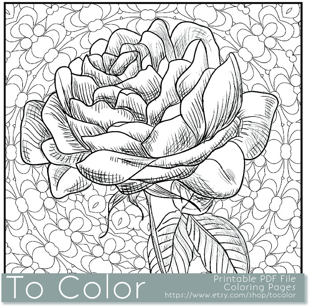 Grown Up Coloring Pages Flowers  Flower Grown Up Coloring Book Unique Flower  Coloring Book Related