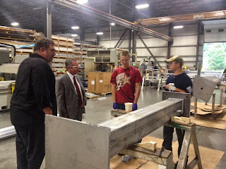 Rep Roy at Pierce Aluminum