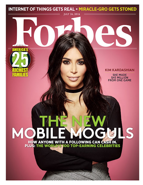 Kim Kardashian shades haters with Forbes Cover