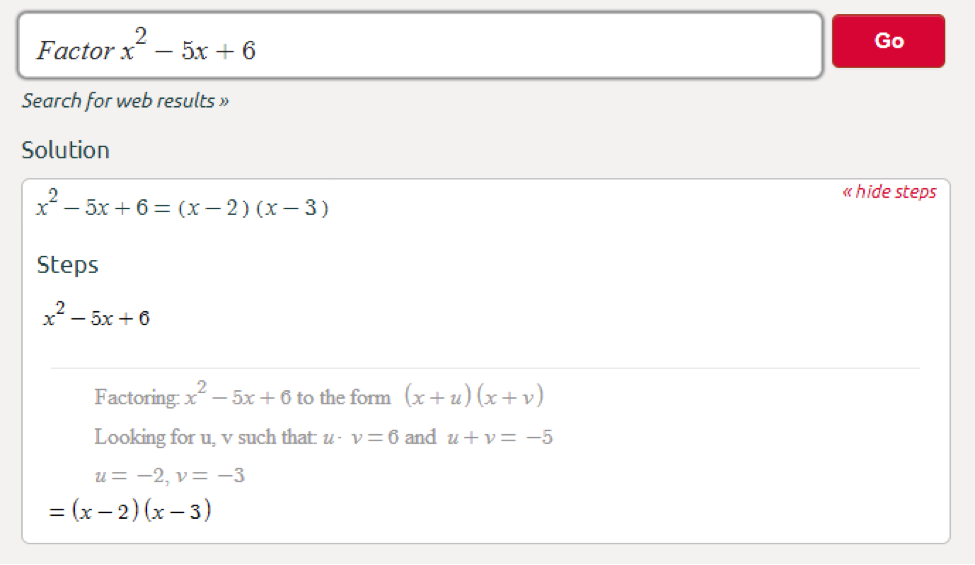 factored form calculator Symbolab Blog: Middle School Math Solutions - Factoring Calculator