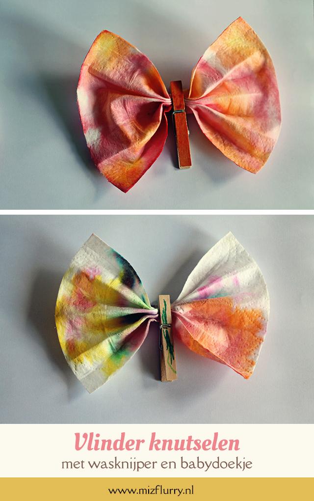 vlinder knutselen kinderen pinterest