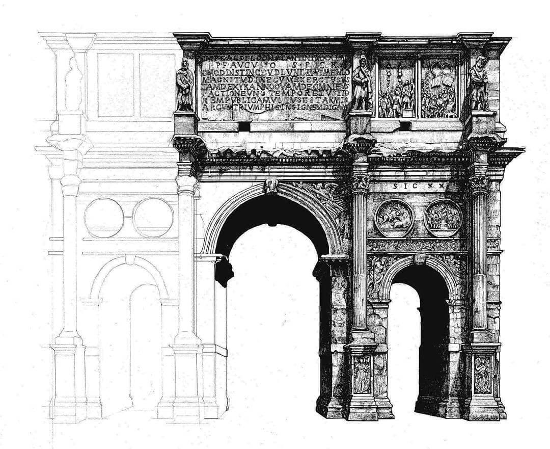 13-Arch-of-Constantine-Liam-Hipple-Complexity-in-Architectural-Drawings-www-designstack-co