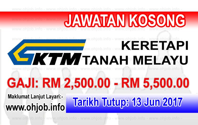Jawatan Kerja Kosong KTMB - Keretapi Tanah Melayu Berhad logo www.ohjob.info jun 2017