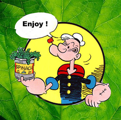 popeye, spinach