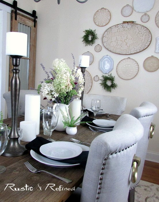 Dining Room Table Setting Idea