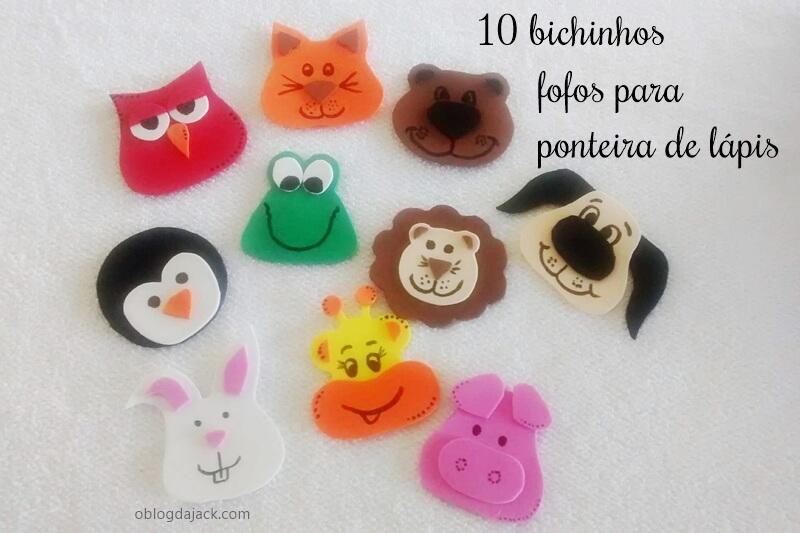 Os 10 bichinhos mais fofos para ponteira de lápis