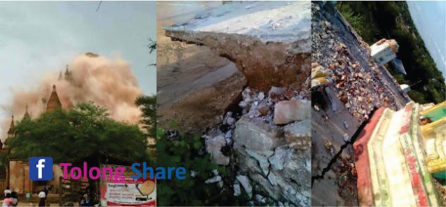 Negri Pembantai dan pengusir Umat Islam Burma Myanmar Dilanda Gempa