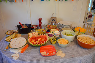 Dragons Love Tacos Birthday Party Taco Table