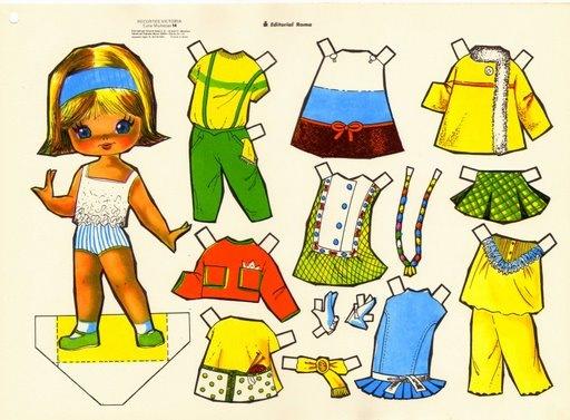 Sanvalentontin Recordando Muñecas De Vestir En Papel
