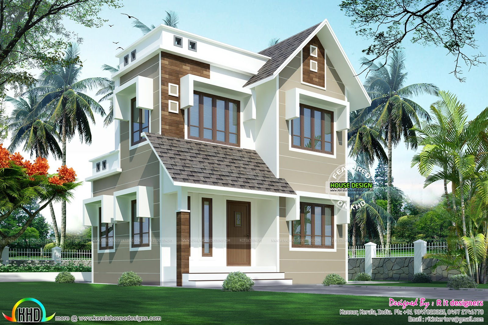 Double storied house 13 Lakhs - Kerala home design and floor plans