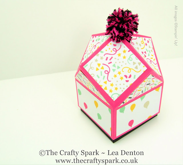 its my party multifaceted box stampin up uk
