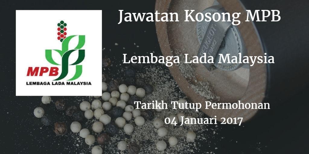 Jawatan Kosong MPB 04 Januari 2017