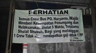 PO Haryanto perintahkan sholat