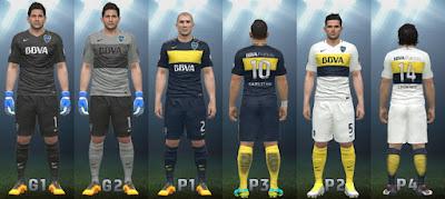 PES 2016 Boca Juniors 2016/17 Full kit pack by AleGN