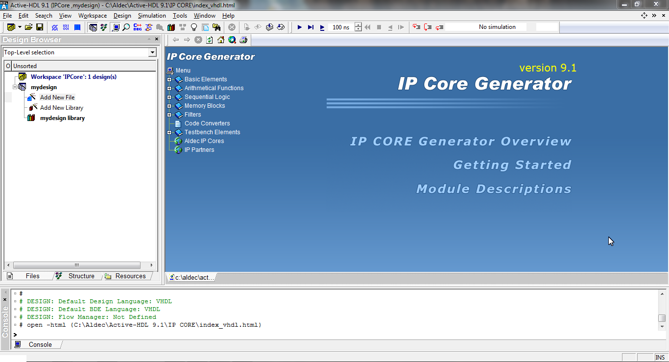 Active HDL IP core generator