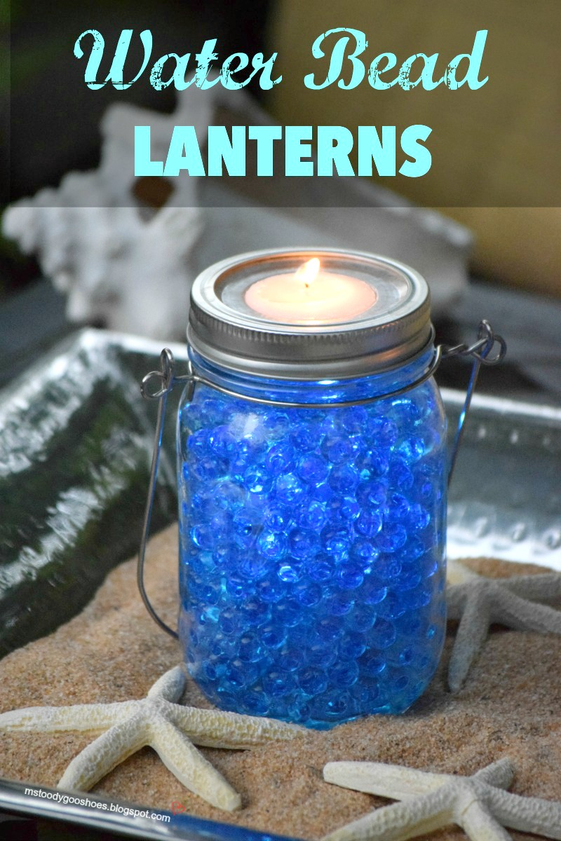 Water Bead Lanterns: Add a pretty glow to outdoor spaces. Super-easy to make! | Ms. Toody Goo Shoes