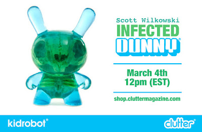 Blue & Green Infected Dunny Resin Figure by Scott Wilkowski x Clutter x Kidrobot