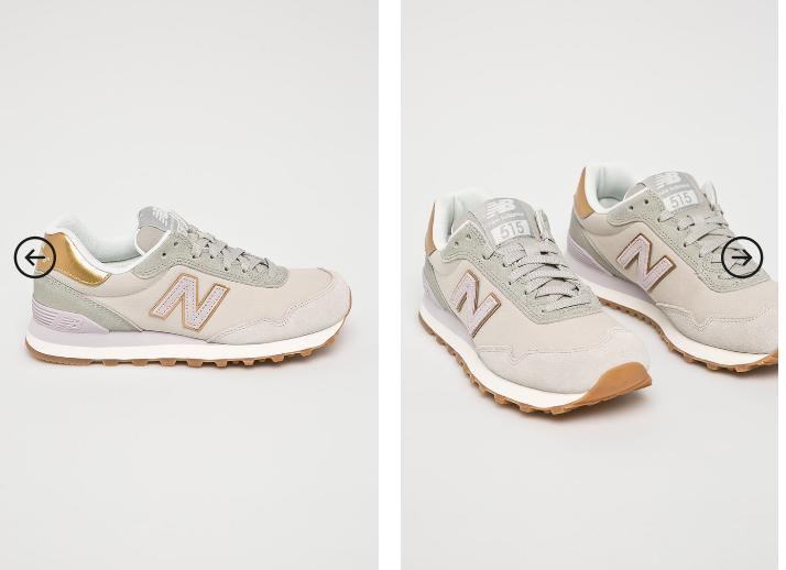 New Balance - Pantofi dama gri deschis din piele naturala