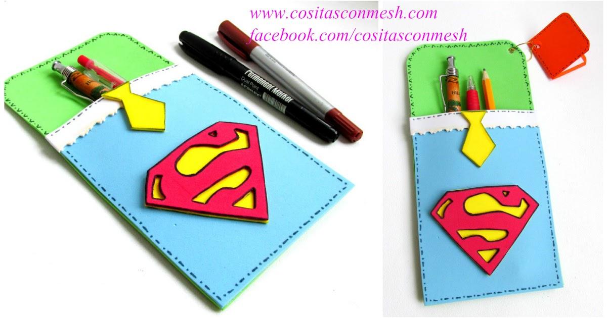 Funditas de superman para regalar en el d a del padre - Regalos faciles y rapidos ...