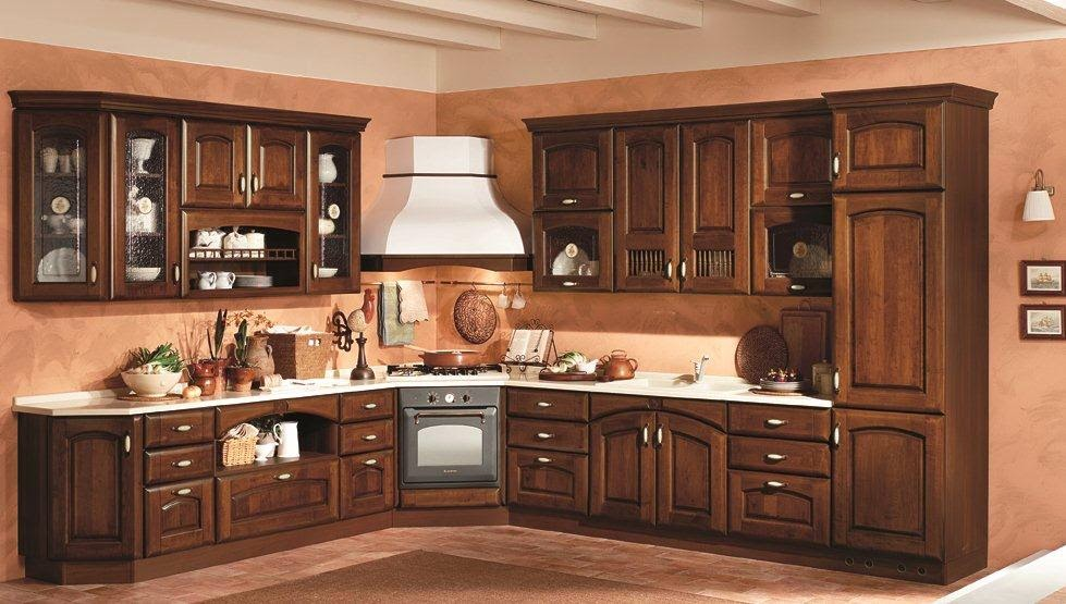 Decoration of house the style of a woman for Cucine classiche