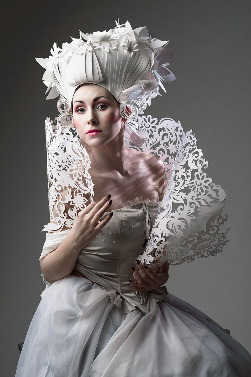 2c112d204d0c Papercraft wigs by Russian artist Asya Kozina that mimic the over-the-top  hairstyles of men and women during the Baroque era. Bigger was better  during the ...